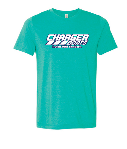 Charger Heathered Sea Green Short Sleeve T-Shirt CB3001HSG