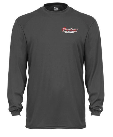 Graphite long sleeve moisture wicking t-shirt - PC CW26G