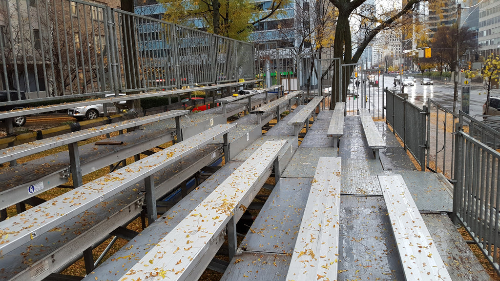 A Bleacher for the Toronto Santa Claus Parade