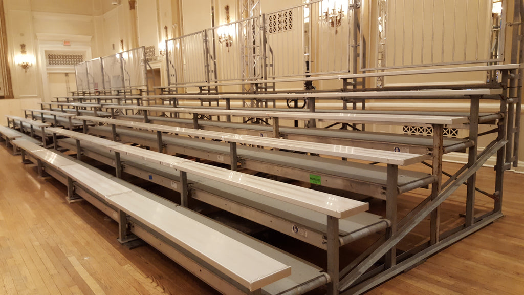 Bleachers for indoor corporate and/or school events