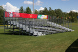 124 Seats Aluminium Bleachers With Galvanized Sub Structure - Mega Stage