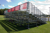 DEAL 124 Seats Aluminium Bleachers With Galvanized Sub Structure - Mega Stage