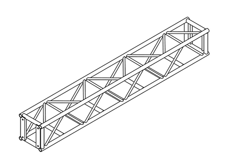 Arcofab 16'' Plated Box Truss TWA-1616 - Mega Stage