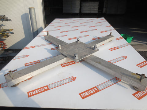 Global Truss Aluminium X Frame Base Plate made of C Channel for Golbal Truss 12'' 290mm (12) - Mega Stage