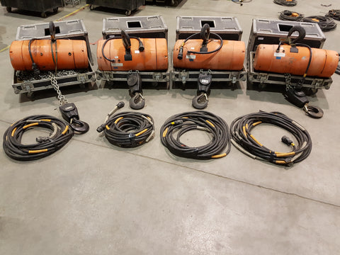 Lot 002: Kit of 4 CM 5 Ton Hoist - Mega Stage