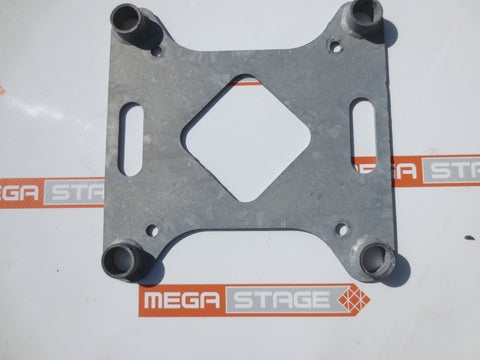 Arcofab 16'' Adaptor Leveling Jack Base Plate for 16'' Plated Box Truss (19) - Mega Stage
