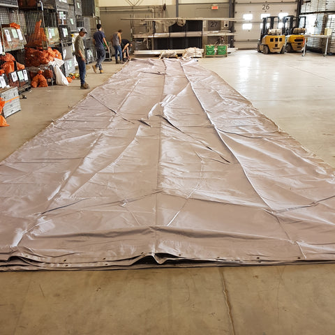 tarp 13 60'x60' grey - Mega Stage