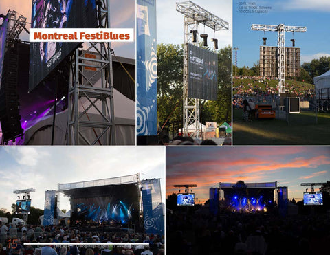 LED SCREEN SUPPORT (free standing) - Mega Stage