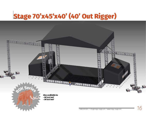 A Stage with Out Rigger - Mega Stage