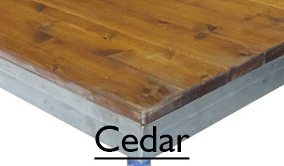 Deck TO/GO V1 Cedar Chestnut Finish - Mega Stage