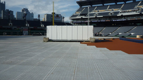 Retractabe FOH Booth (20' wide by 30' deep) - Mega Stage