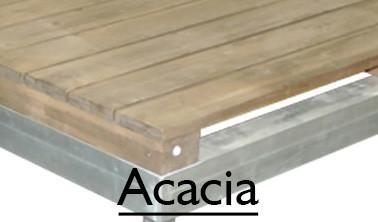OL Series - ACACIA OL Aluminum Deck Series (Lumber Covered)
