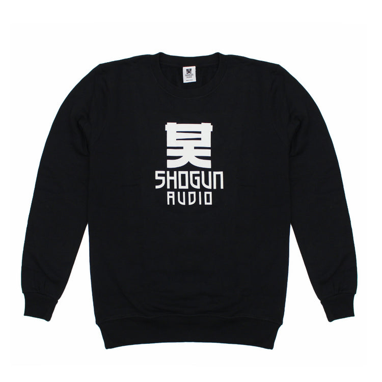 Shogun Audio - Black Sweater with White Logo - Shogun Audio