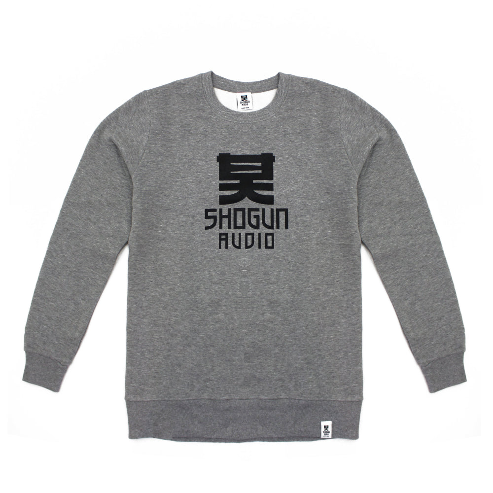 Grey Sweater with Black Logo
