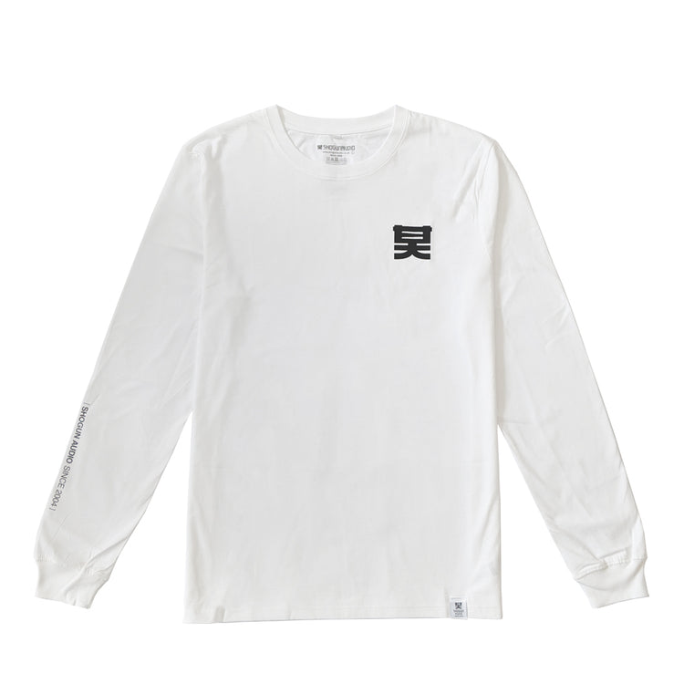 Shogun Essentials Long Sleeve T-shirt White - Shogun Audio