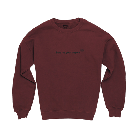 Save Me Your Prayers Red Crew Neck