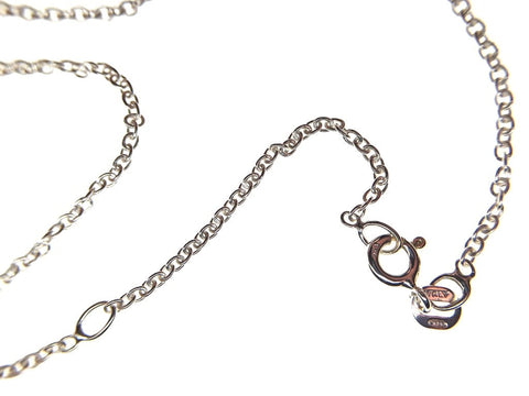 "Sterling Silver Belcher Chain (1.6mm) - 18""-20"" / 45-50cm - macro"