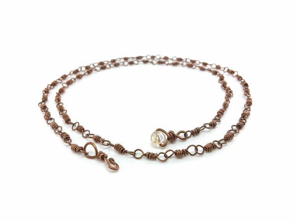 Copy of Copper Chain / Wrap bracelet 0.8mm