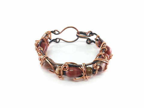 Copper Bangle with Agate Beads 2.jpg