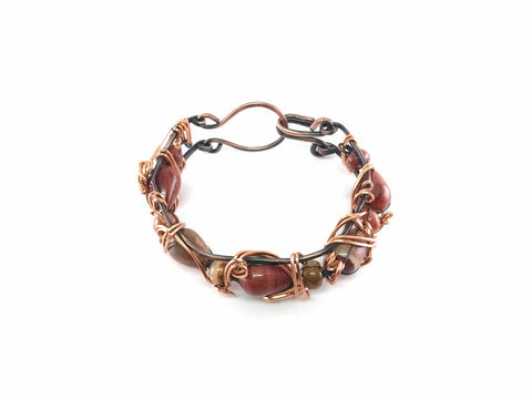 Copper Bangle with Agate Beads 3.jpg