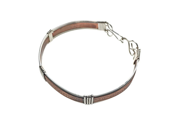 Copper and Sterling Silver Bracelet