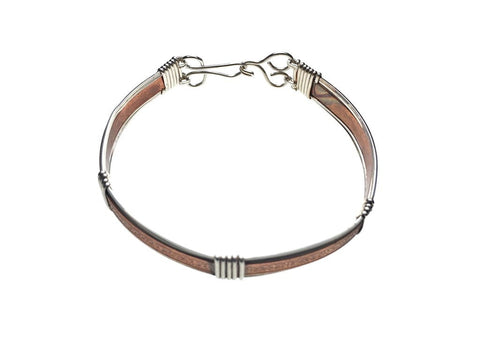 Copper and Sterling Silver Bracelet - front