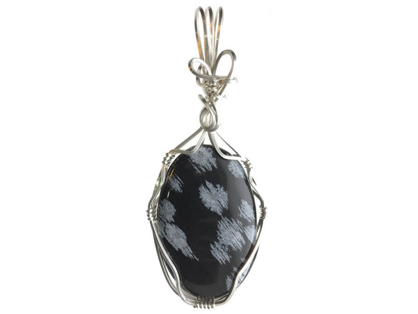 Snowflake Obsidian Pendant in Sterling Silver