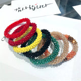 Korean Handmade Crystal Strands Beads Adult Women Elastic Hair Bands Head Wear