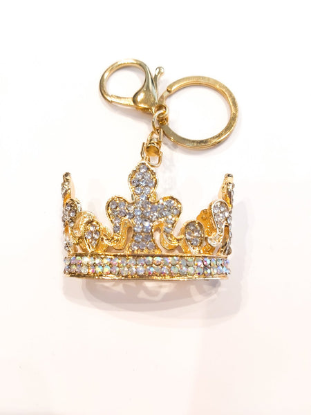 Crown Rhinestones Key-ring Keychain Charm Pendant