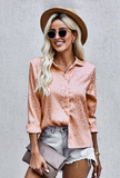 Orange Embossed Button Shirt