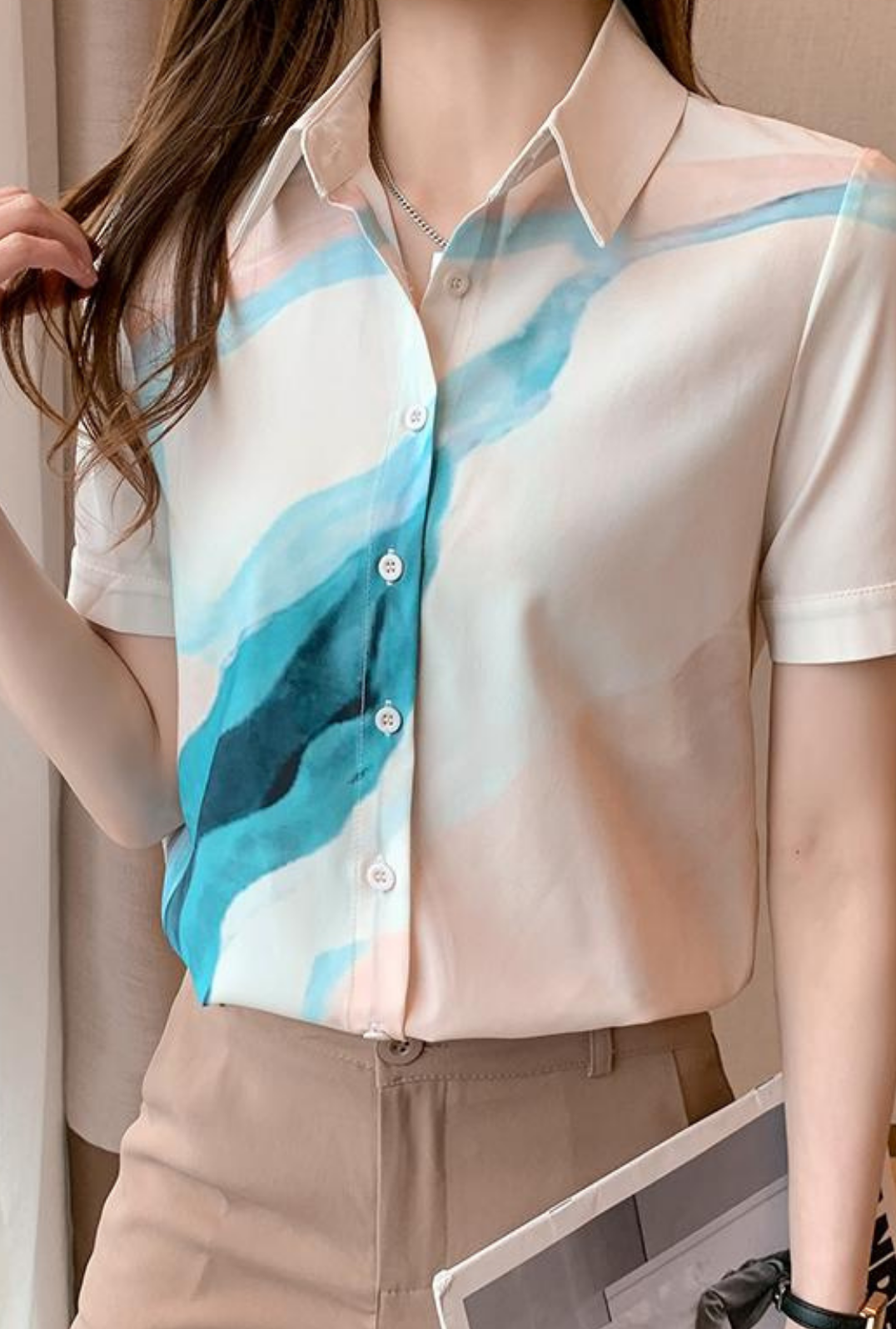 Summer small shirt fashion shirt for women