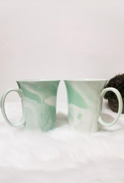 Green Marble Ceramic Coffee Mug