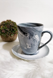 Gray Marble Ceramic Coffee Mug