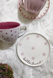 Pink Polka Dot Tea/Coffee Cup