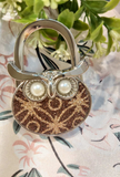 Owl Designed Shoulder Handbag Folding Purse Holder