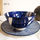 Blue Paint ceramic soup bowl