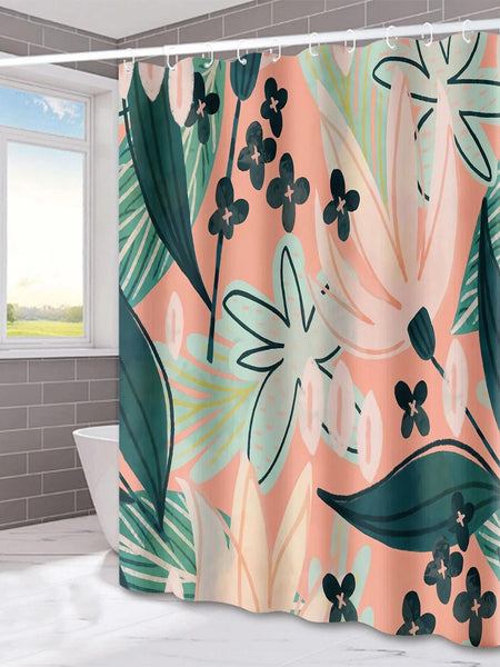 Plant Print Shower Curtain