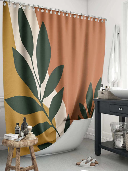 Leaf Print Shower Curtain