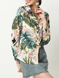 Plants Printed Single Breasted Long Sleeve Shirts