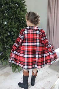 Plaidful Coat