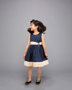 Navy and Ivory Dress