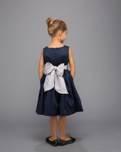Navy and Grey Block Dress