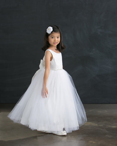 Tulle Ball Gown Dress with Jeweled Waist