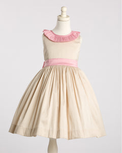 Champagne and Pink Party Dress