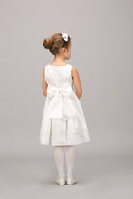 WHITE DRESS WITH LACED HEM AND CHEST DETAIL - SLEEVELESS