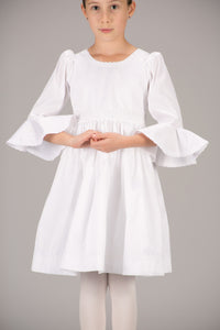 LONG SLEEVES WITH FLARED BELL CUFFS DRESS