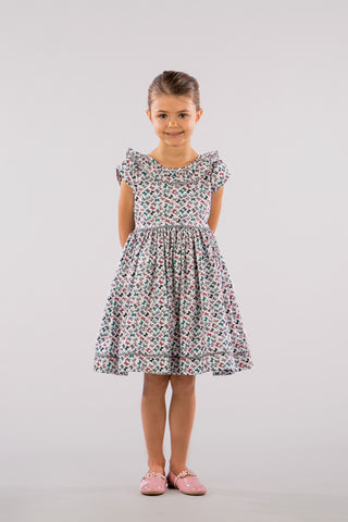 BUTTERFLIES KALEIDOSCOPE PRINT DRESS - SHORT SLEEVES