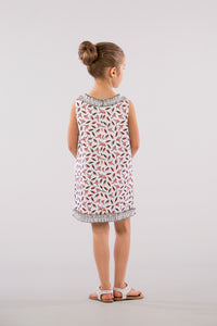 Pink Birds Shift Dress