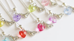 Ice Skate Party Favor, Skate Charm with Heart Charm, Girl Party Favors
