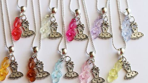 Ballerina Party Favor, Girl Necklaces, Mixed Colors, Ballerina Theme Party, Kids Jewelry, Girls Dress Necklace, Ballet